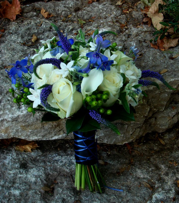Romantic flowers flower inspiration blue bouquets for White and blue flower bouquet