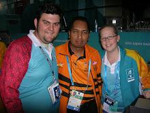 Bersama Luke dan Jeniffer, Sukarelawan Australia di Sukan Asia, Doha, Qatar