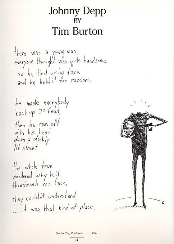 an analysis of meaning of nightmare in melancholy of death of oyster boy by tim burton Arts: explore origins of tim burton's goofy gothic arts ditto jack skellington, the leading ghoul in the nightmare before christmas: the melancholy death of oyster boy and other stories sketch, 1982-1984.