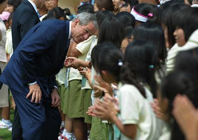 President Bush Tours South Korea