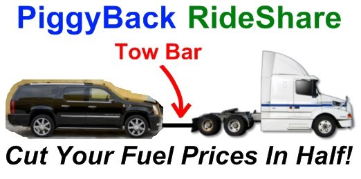 PiggyBack RideShare Fuel Savings