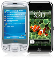 Windows Mobile på QTEC versus iPHONE