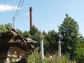 Colonne greche e antica fornace