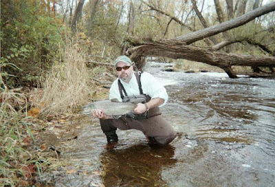 Only known picture of VERN-O with a rather mighty Brown Trout. (c) VERN-O. Used with permission.