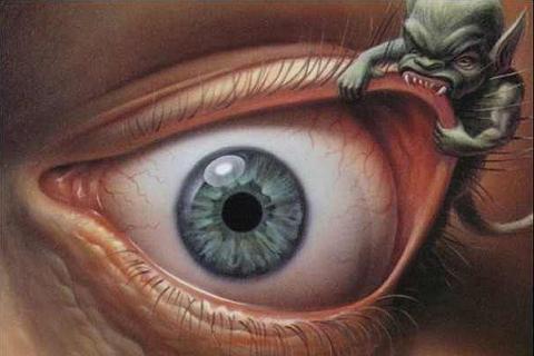 susah tidur, penyakir gelisah, mata merah, gangguan mata, setan mata