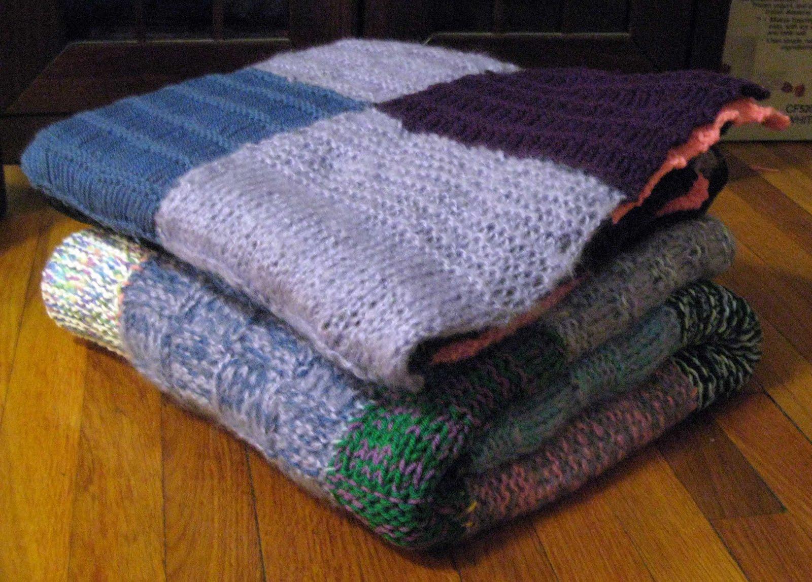 Knitting Blankets For Charity : Chemknits pine street inn knit a thon