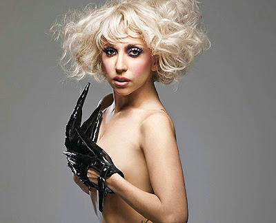 Lady Gaga Q Magazine. Super close photo of Lady Gaga