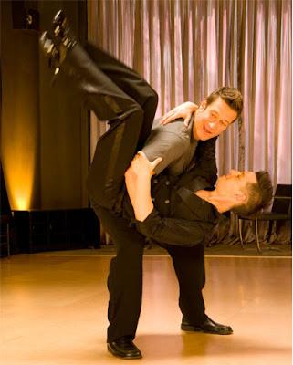Gay singer/dancer Robert Gant dips his male partner on Show and Tell photo