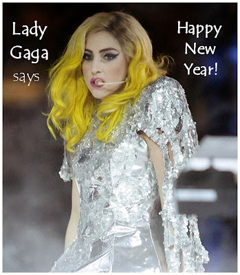 Lady Gaga New Years Photo. Picture of Lady Gaga with her
