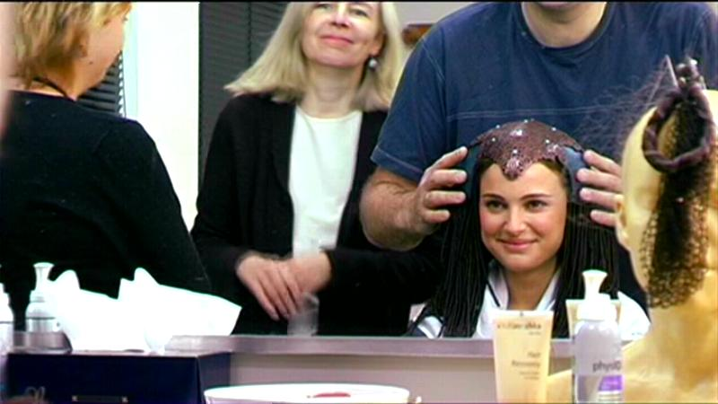 natalie portman queen amidala costume. Natalie Portman has fun