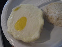 Interesting eggs from the breakfast buffett. I had to eat three to make sure it was an egg.