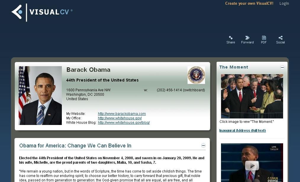 the employmentalist barack obama s visual cv