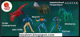 McDonalds Avatar Happy Meal Toys - Set of 6 - Jake Sulley, Direhorse, Neytiri, Great Leonopteryx, Tsu'tey, Hammerhead Titanothere