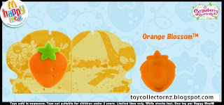 McDonalds Strawberry Shortcake Happy Meal Toys 2010 - New Zealand and Australia release - Orange Blossom detail of stamper book