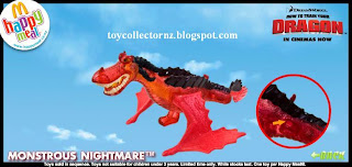 McDonalds Dragon Happy Meal Toys - Monstrous Nightmare