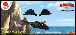 McDonalds Happy Meal Toys Dragon 3D - Toothless and Hiccup toy