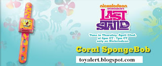 Burger King Toy Watches - Spongebob's Last Stand Toys - Watch Giveaway 2010 - Coral Spongebob watch