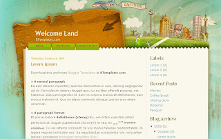 Welcome Land - Free Blogger Template