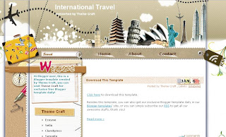 Free Blogger Template - International Travel