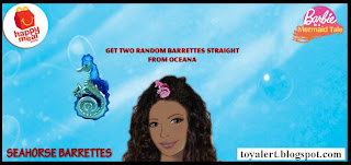 McDonalds Barbie in a Mermaids Tale toys - 2 Seahorse Barrettes
