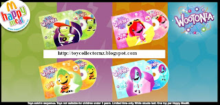 McDonalds Toys Wootonia 2010 CDROMs Happy Meal Toys