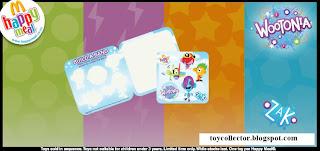 McDonalds Toys Wootonia 2010 - Zak and Music Clip Bounce - Sticker Set