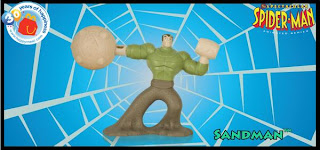 McDonalds Spectacular Spider-Man Happy Meal Toy Promotion 2009 - Sandman Toy