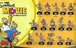 Burger King Simpsons Movie Toys 2007