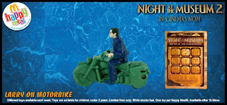 Night at the Museum 2 Happy Meal Toys from McDonalds 2009 - Larry on Motorbike