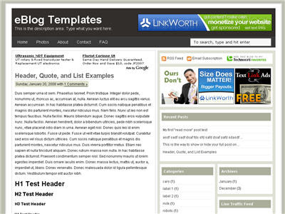 Free Blogger Template - Ads Theme 3 column, ads ready, black