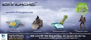 Burger King GI Joe - The Rise of Cobra Kids Meal Toys Promotion 2009 - Set of 8