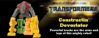 Burger King Transformers Revenge of the Fallen toys 2009 - Constructin' Devastator toy