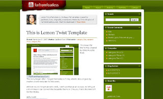 Lemon Twist - Best Free Blogger Template