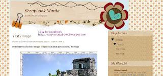 Scrapbook Mania - Free Blogger Scrapbooking Template - Free Blogspot Scrapbooking Template