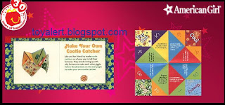 McDonalds American Girl books 2009 - Julie make a cootie catcher activity