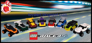 McDonalds Lego Racer Happy Meal Toys - 2009 - Set of 8