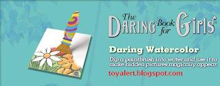 Burger King Daring Book for Girls - Daring Watercolor - magic paintbrush
