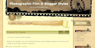 Free Blogger Template - Photographic Film