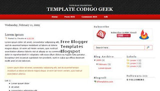 Free Blogger Template - Codigo Geek