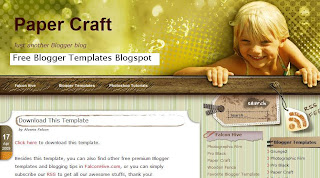 Paper Craft - Free Blogger Template Scrapbooking - Free Blogspot template