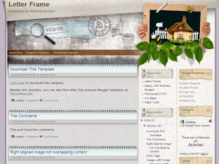 Free Blogger Template - Letter Frame