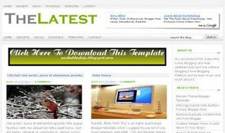 The Latest - Best Free Blogger Blogspot Templates