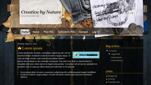 Free Blogger Template - Creative By Nature
