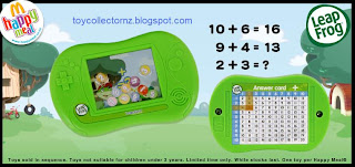 McDonalds Happy Meal Toys - Leapfrog toys 2009 - Leapster Maths Game