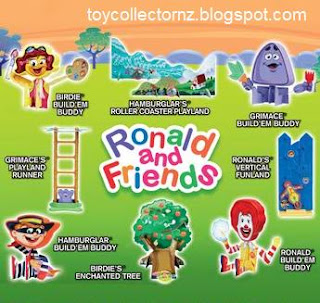 McDonalds Ronald and Friends Happy Meal Promotion 2009 - Set of 8