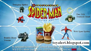 Burger King Spectacular Spider-man Kids Meal Toy Promotion 2010 - Set of 4 Toys