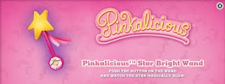 Burger King Pinkalicious kids meal toys 2010 - Pinkalicious Star Bright Wand
