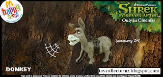 McDonalds Shrek Forever After Toys - Australia and New Zealand Happy Meal Toy Release - Donkey with saddle