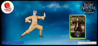 McDonalds Last Airbender Happy Meal Toys - Aang Figure (Front View)