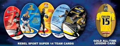 Sanitarium Rebel Sport Super 14 Super Flyers - 50 Rugby Cards - 10 per team including 1 legend card per team